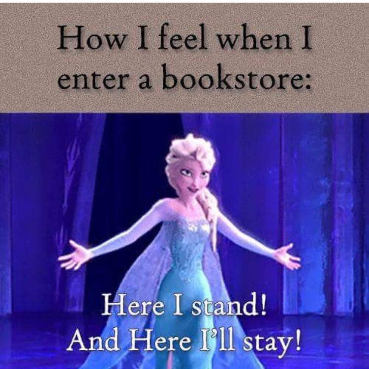When a Book Lover enters a bookstore - Elsa