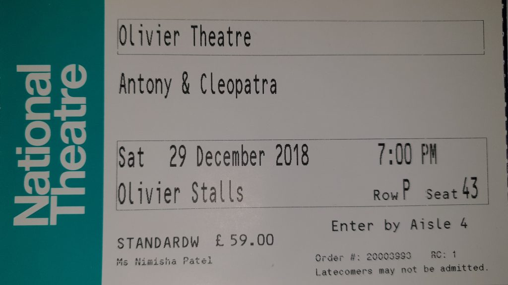 Antony and Cleopatra Ticket London